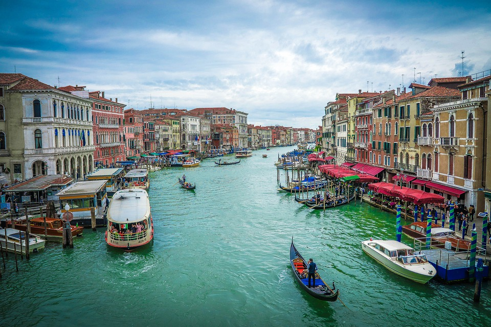 Canal Grande, Venice, Waterfront, Italy, Canal, Water