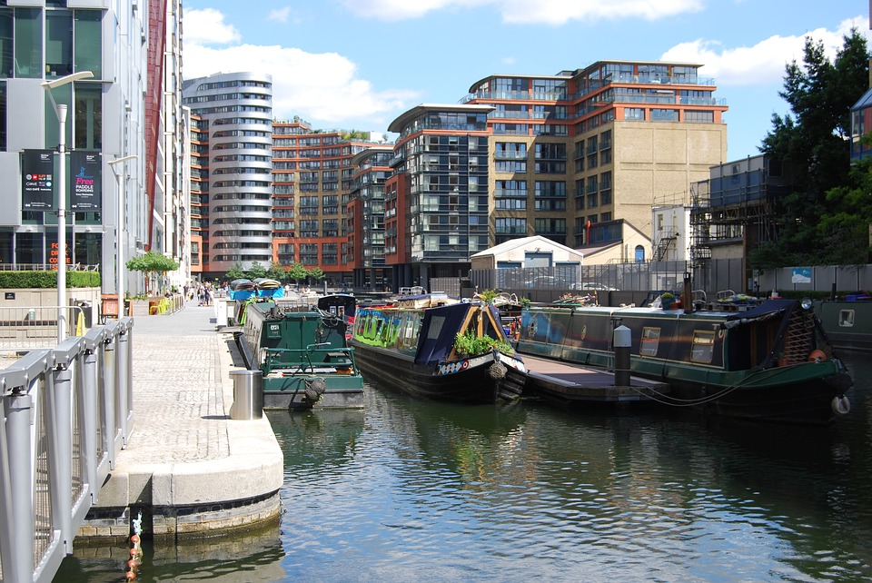 Merchant City, London, Canal, Boat, Barge, Water, Urban
