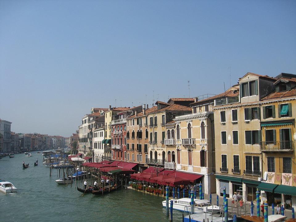 Venice, Waterways, Tourism, Canal, Europe, Italy