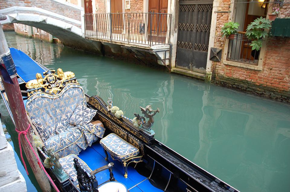 Canal, Water, Gondola, Travel, Architecture, Venice
