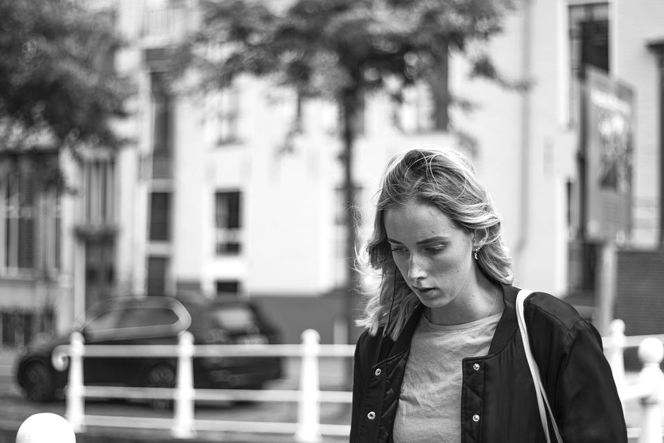 Holland, Canals, Groningen, Depressed, Sad, Woman, Girl
