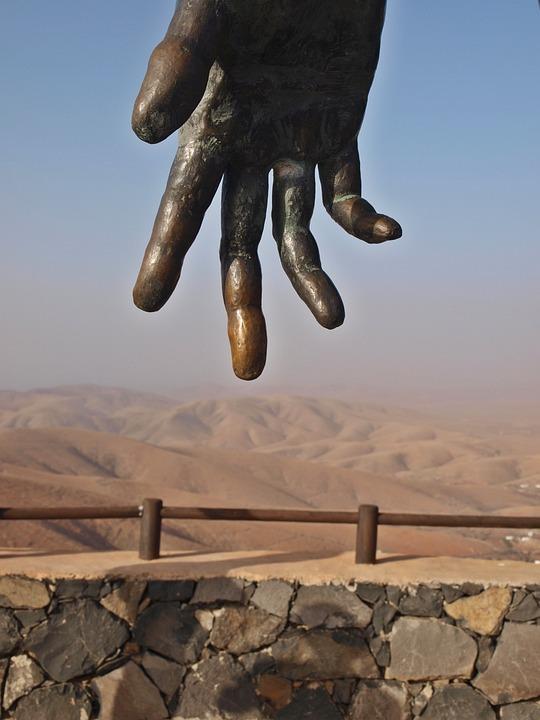 Hand, Fuerteventura, Canary Island, Landscape, Dry