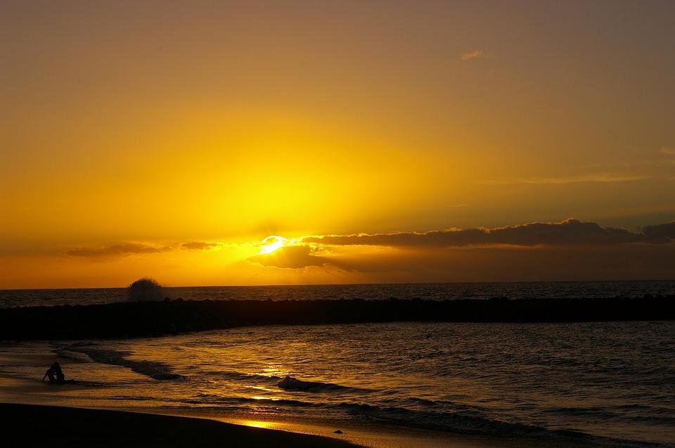 Sunset, Beach, Tenerife, Canary Islands