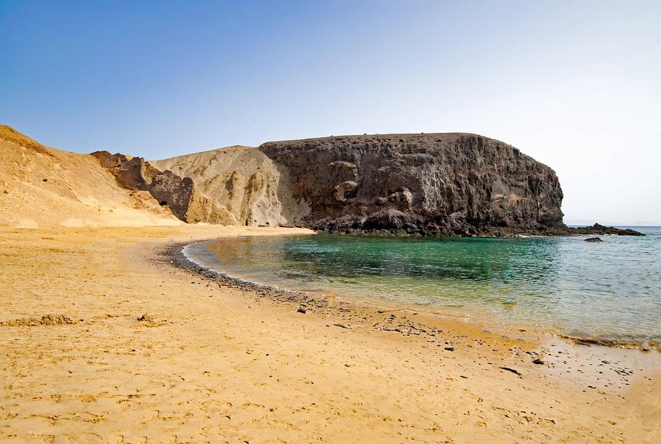 Playa Del Papagayo, Lanzarote, Canary Islands, Spain