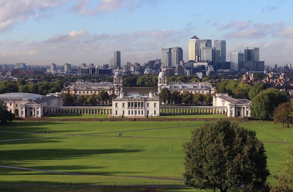 Greenwich Park, London, Canary Wharf, River Thames