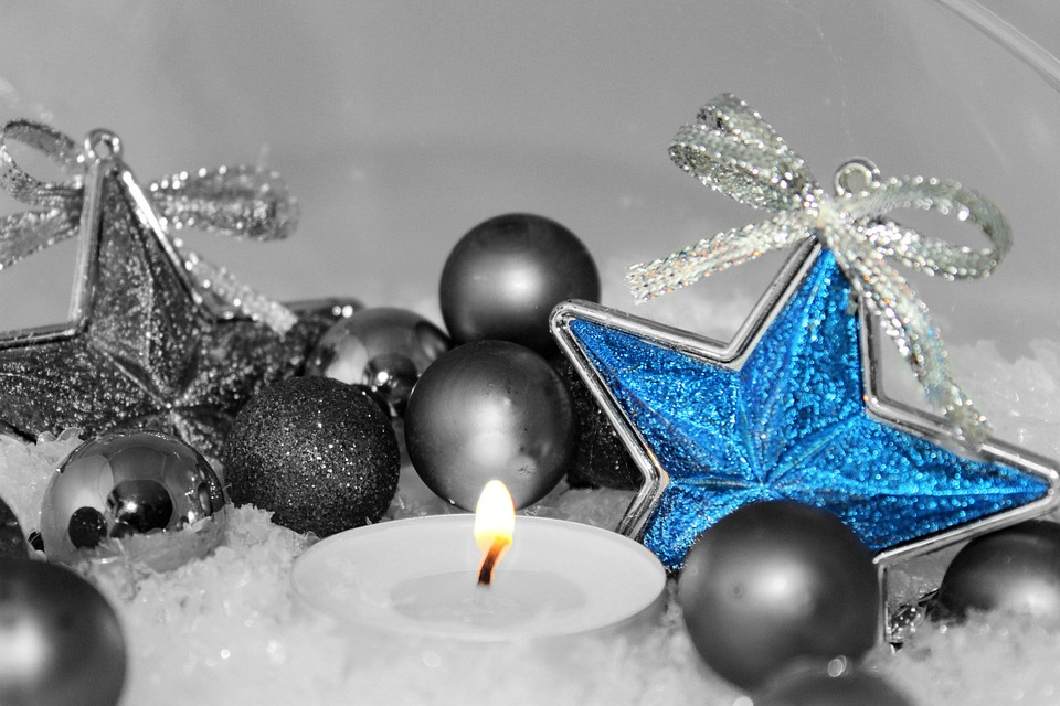 Star, Balls, Candle, Christmas, Decoration