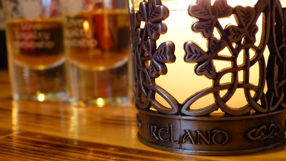 Candlestick, Candle, Fire, Ireland, Whisky, štamprla