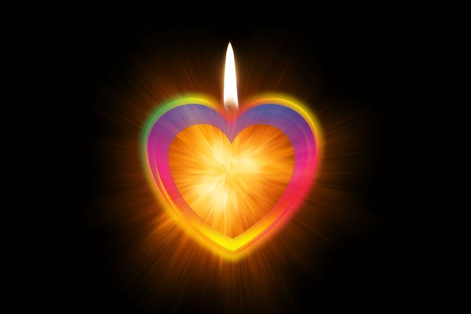 Candle, Heart, Love, Christmas, Advent, Romantic
