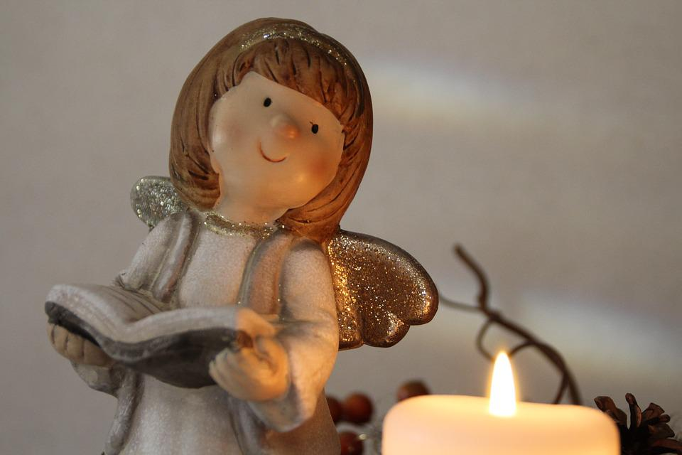 Angel, Christmas, Candle, Fig, Advent, Decoration