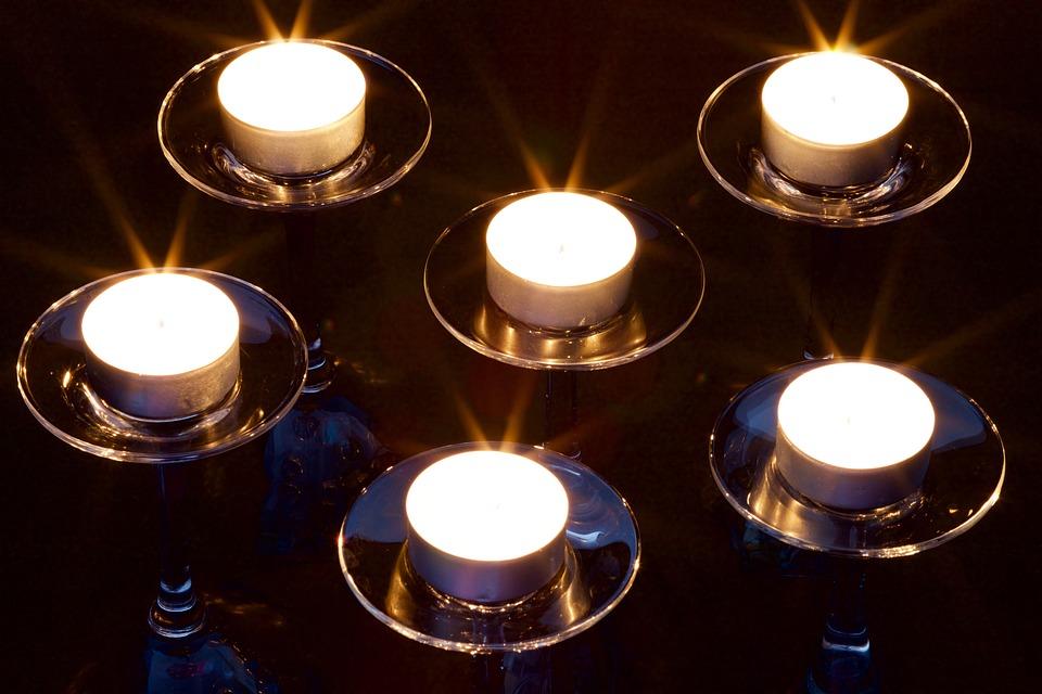 Candle, Flame, Glass, Gloss