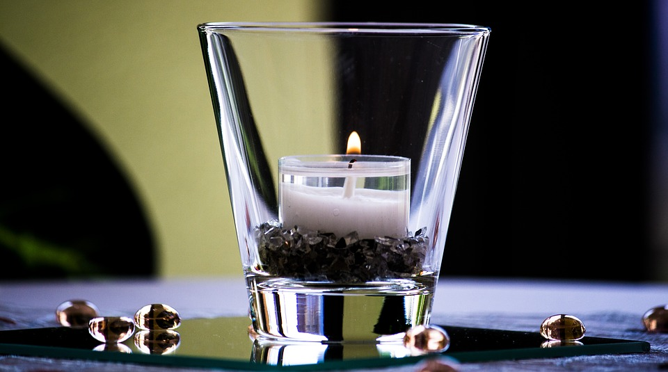 Glass, Reflection, Candle, Tealight, Communion
