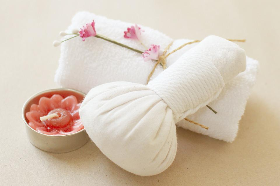 Spa, Herbal Compress, Candle, Towel, Compress, Herb