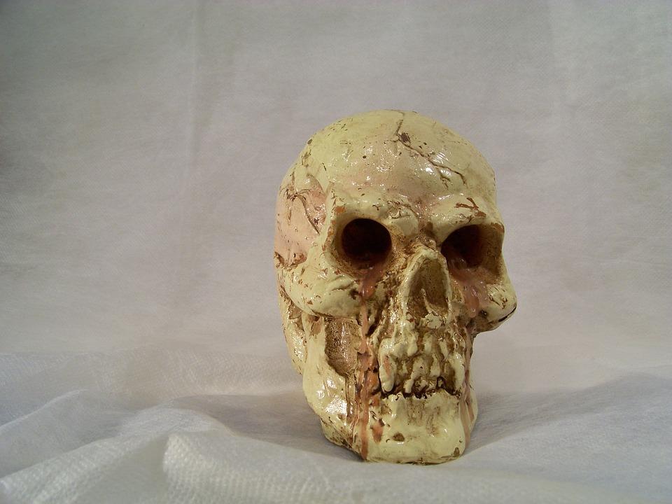 Skull And Crossbones, Decorative Items, Candle, Wax