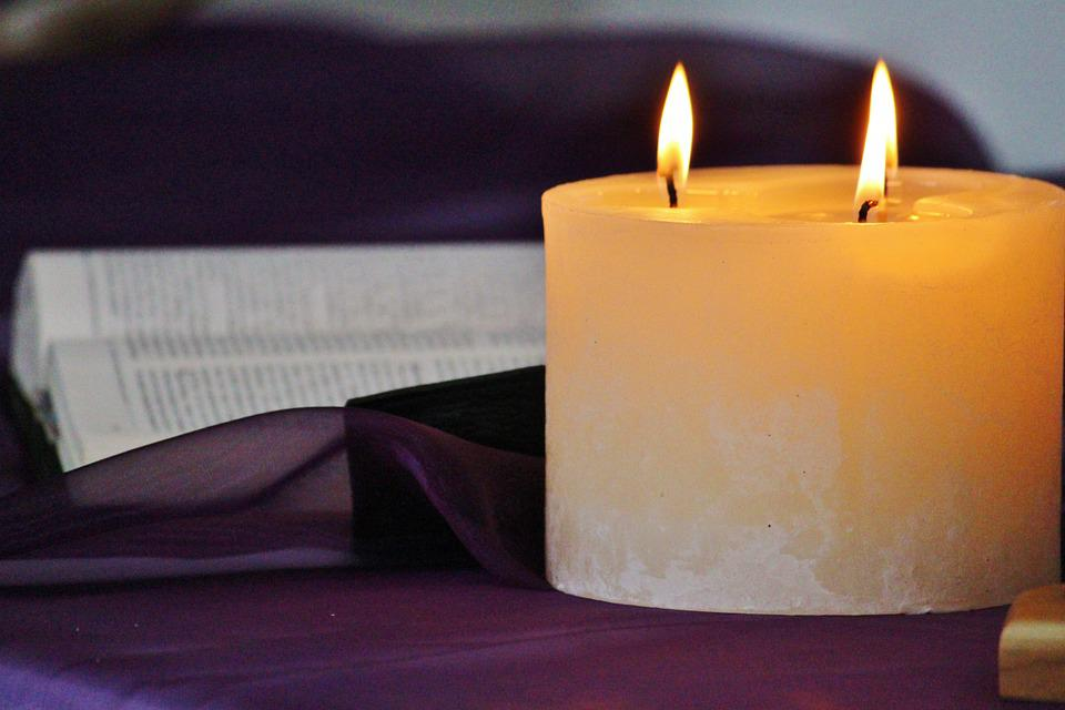 Candle, Wick, Cozy, Prayer, Bible