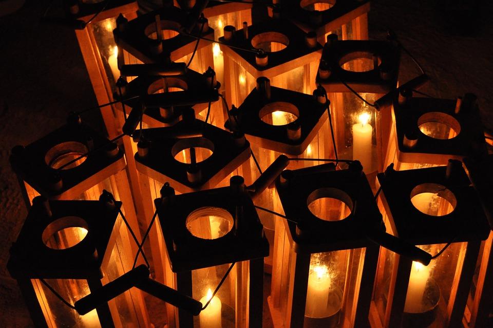 Candles, Candleholder, Candle Holder, Flames, Lanturn