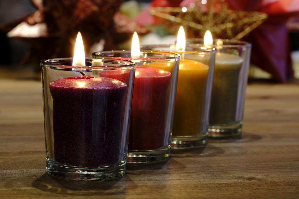 Candle, Candlelight, Glass, Christmas, Advent