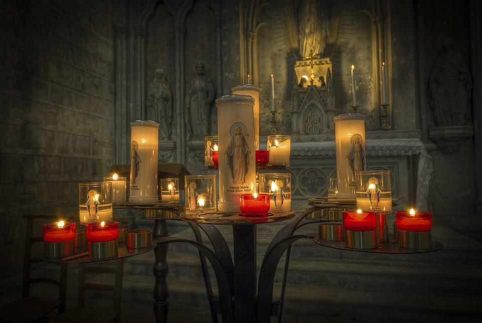 Candles, Church, Prayer, Candlelight, Religion, Faith