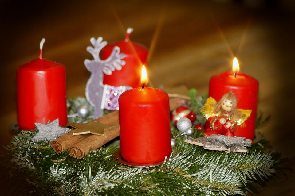 Second Advent, Advent Wreath, Advent, Candles