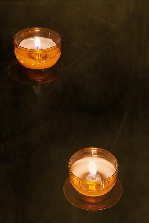 tea lights candles candles tree christmas