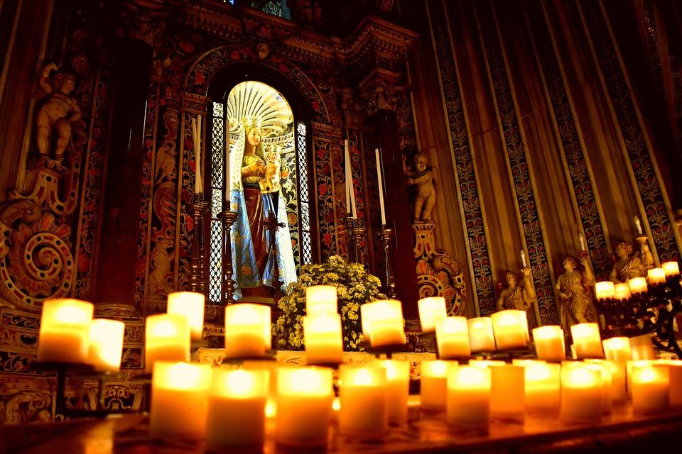 Light, Candles, Virgin, Pray, Love, Church, Italian