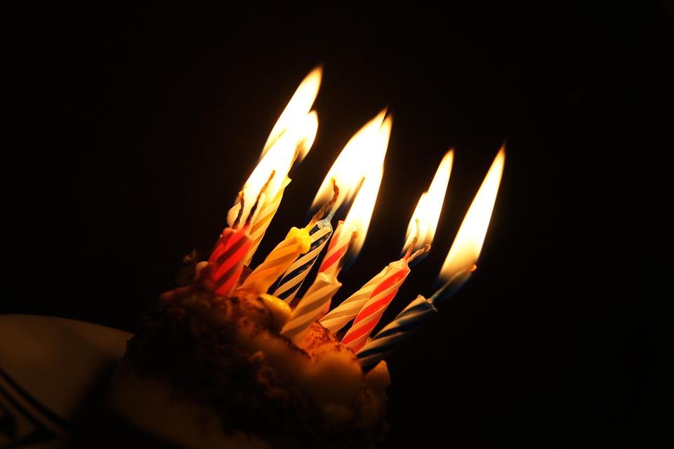 Free Photo Candles Dessert The Cake Birthday Cake Muffin Max Pixel