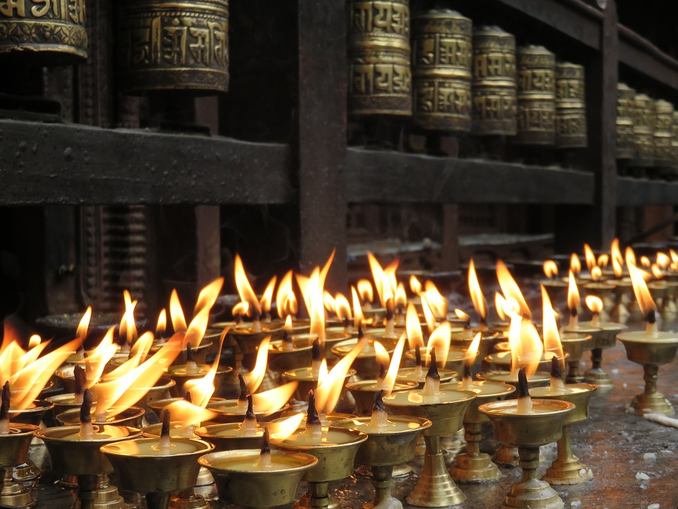 Candles, Offering, Temple, Religious, Traditional, Asia