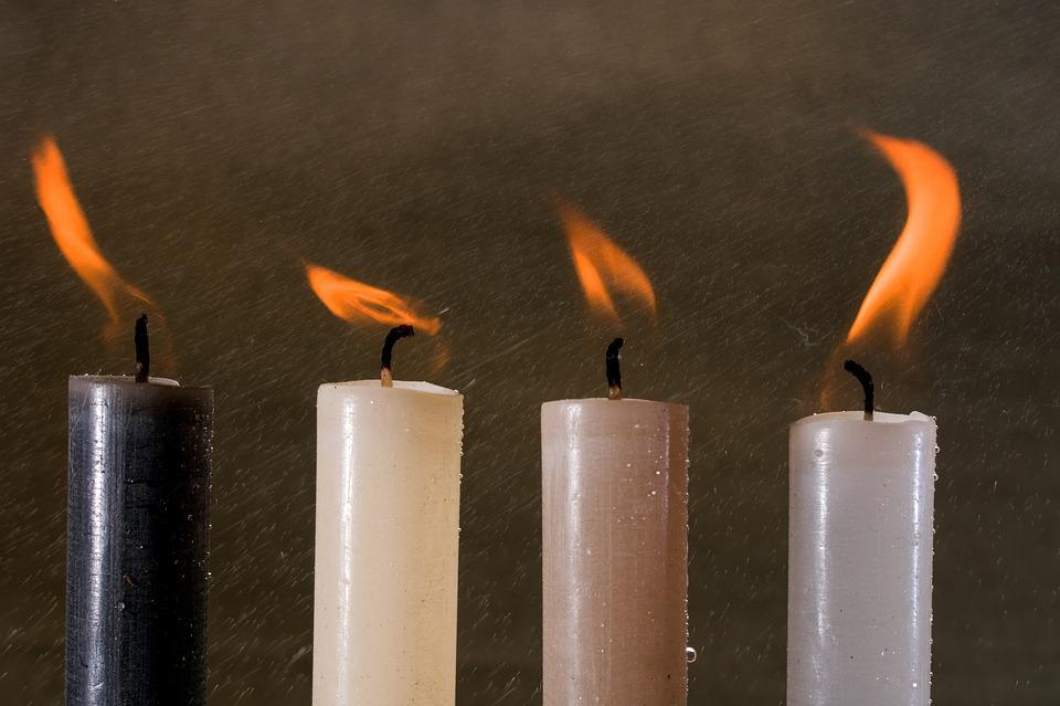 Candles, Light, Candlelight, Flame, Water, Rain