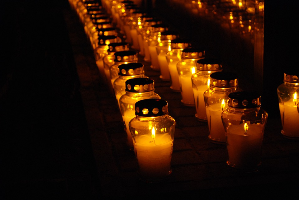 Cemetery, Candle, Candles, Light, The Dead