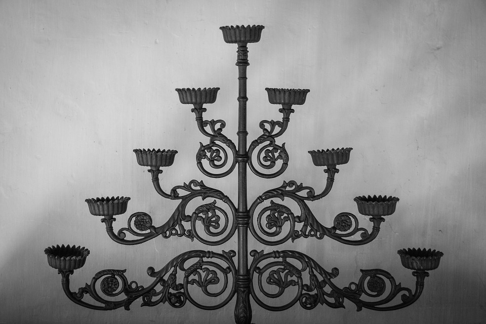 Candlestick, Black And White, Candle Holders