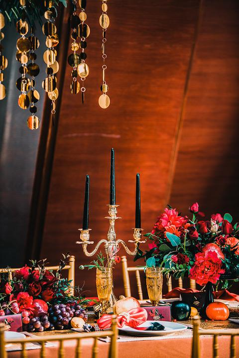 Gold, Candlestick, Candle, Evening Party, Party