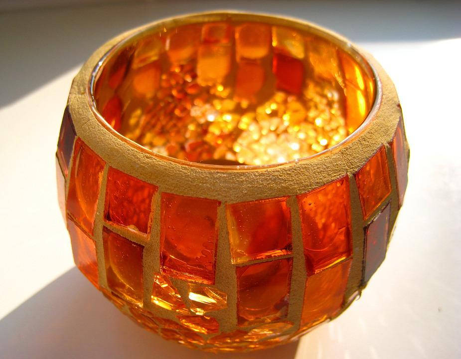 Tealight, Candlestick, Mosaic Tealight, Tiffany