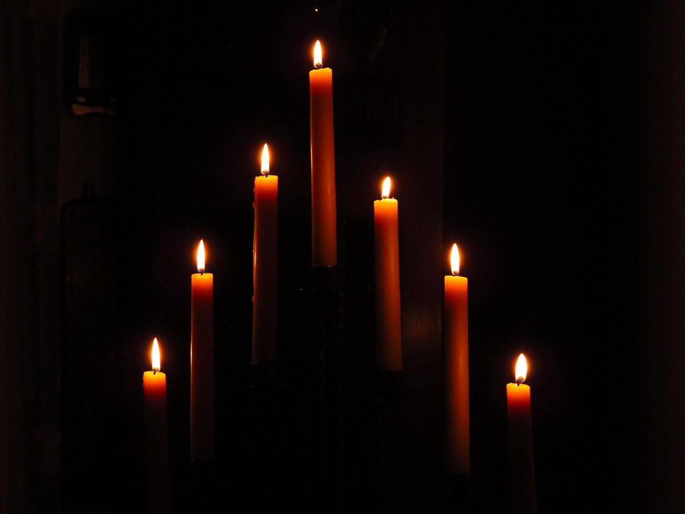 Candles, Candlestick, Wax Candle, Flame, Darkness, Burn