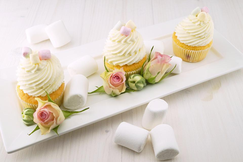 Cupcakes, Muffins, Baking, Candy, Cream, Creamy