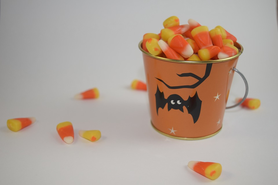 Candy Corn, Bucket, Candy, Halloween, Treat, Sweets