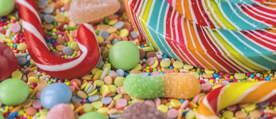 Background, Bonbon, Candy, Candy Cane, Candycane, Cane
