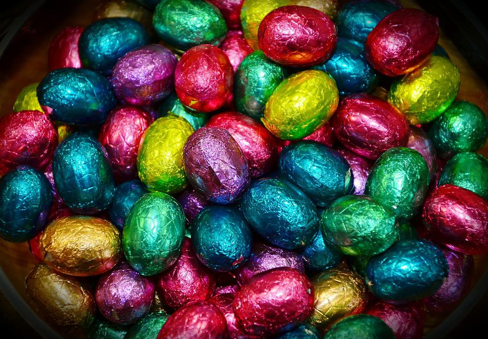 Easter Eggs, Chocolate Eggs, Colorful, Easter, Candy