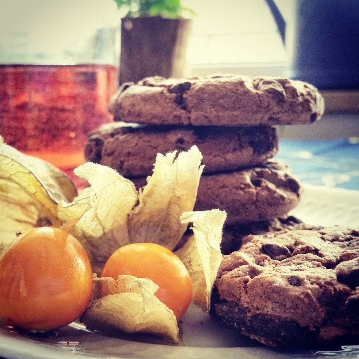 Cookies, Chocolate Chip Cookies, Physalis, Sweet, Candy