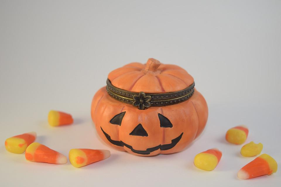 Pumpkin, Candy Corn, Candy, Sweets, Treat