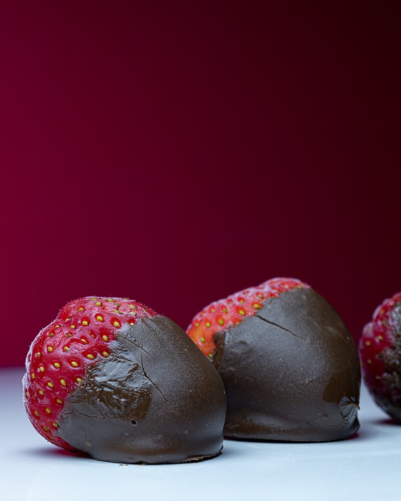 Strawberry, Chocolate, Sweet, Delicious, Dessert, Candy