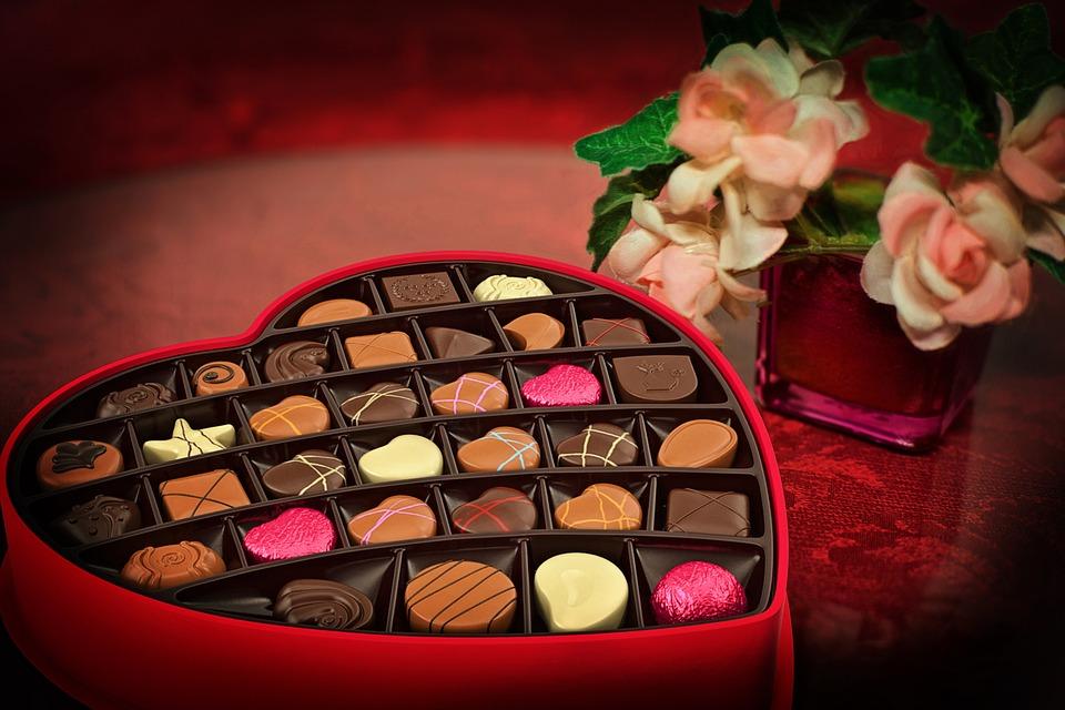 Valentine's Day, Chocolates, Candy, Heart, Love