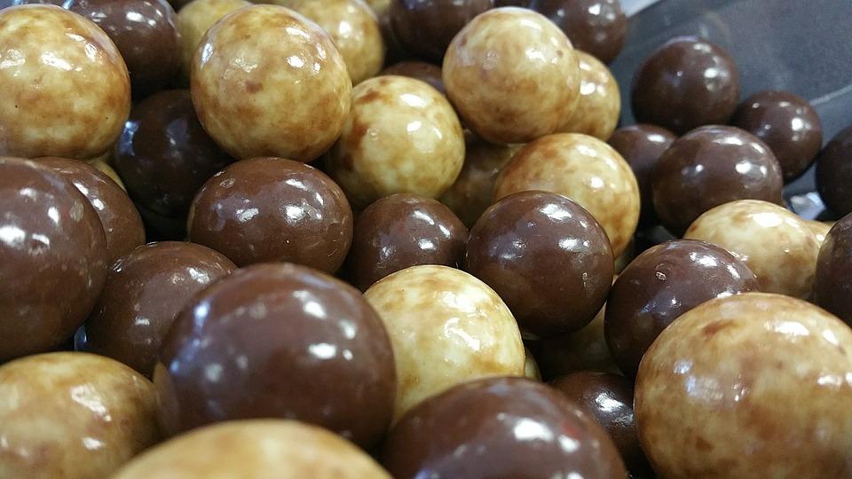 Candy, Milk Balls, Macro, Sweets