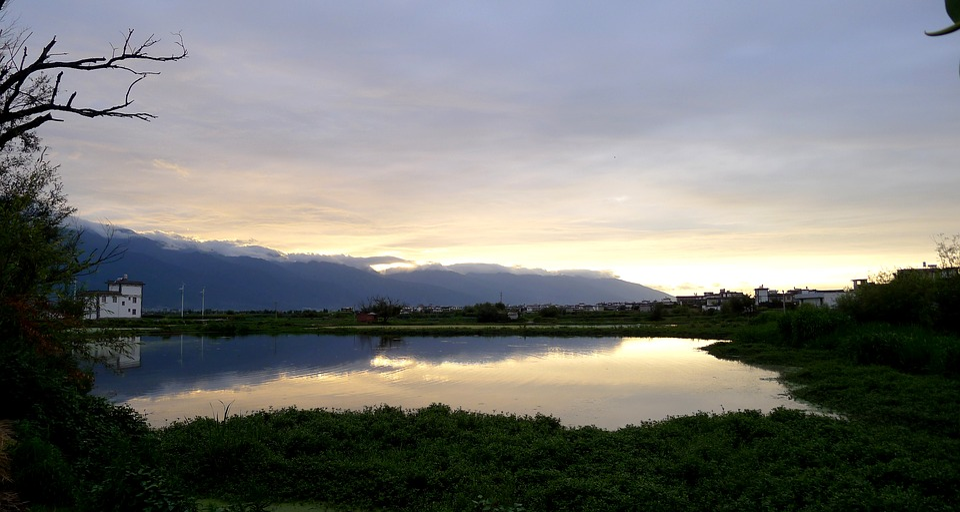 Sunset, Cangshan, Reflection