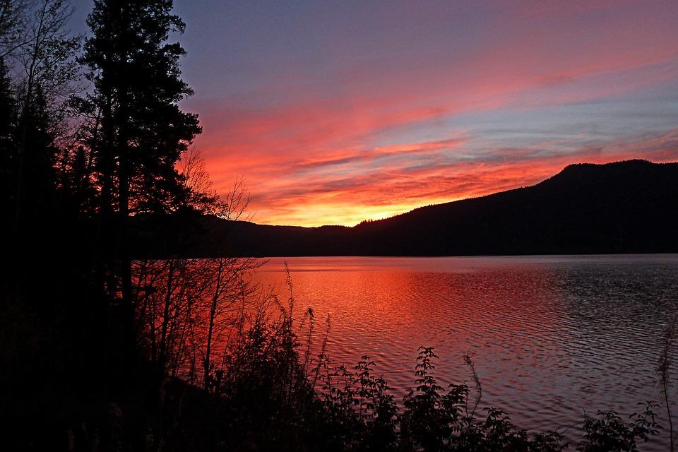 Sunrise, Morning, Canim Lake, British Columbia, Cariboo