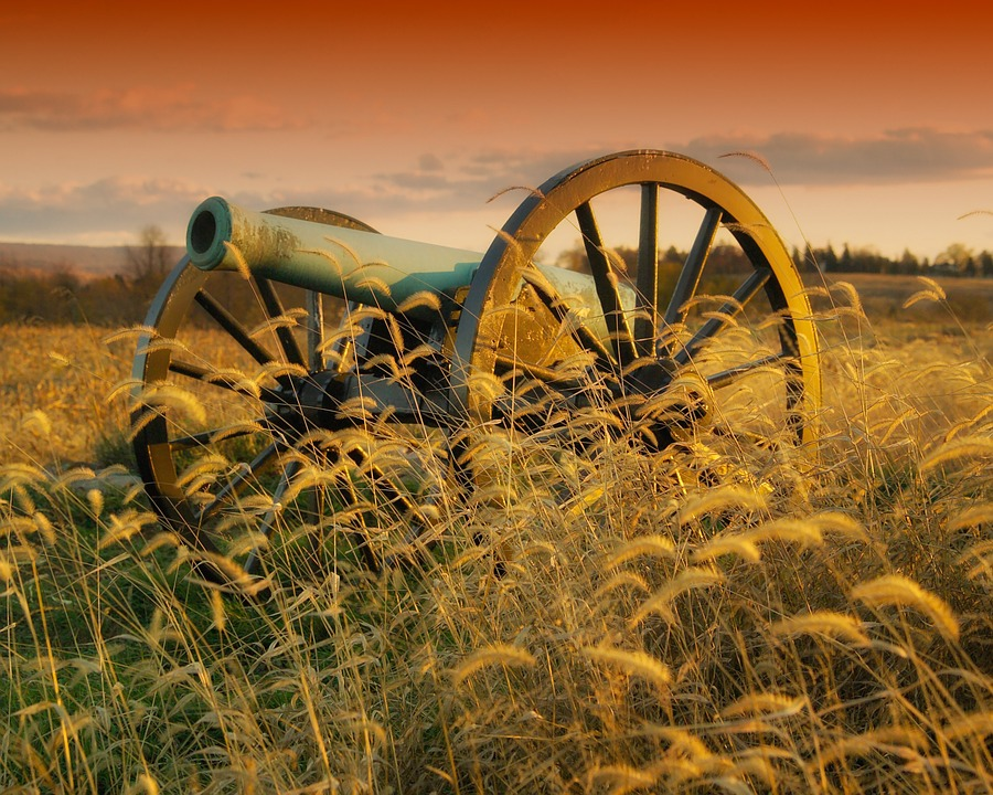 Antietam, Maryland, Cannon, Battlefield, Landscape