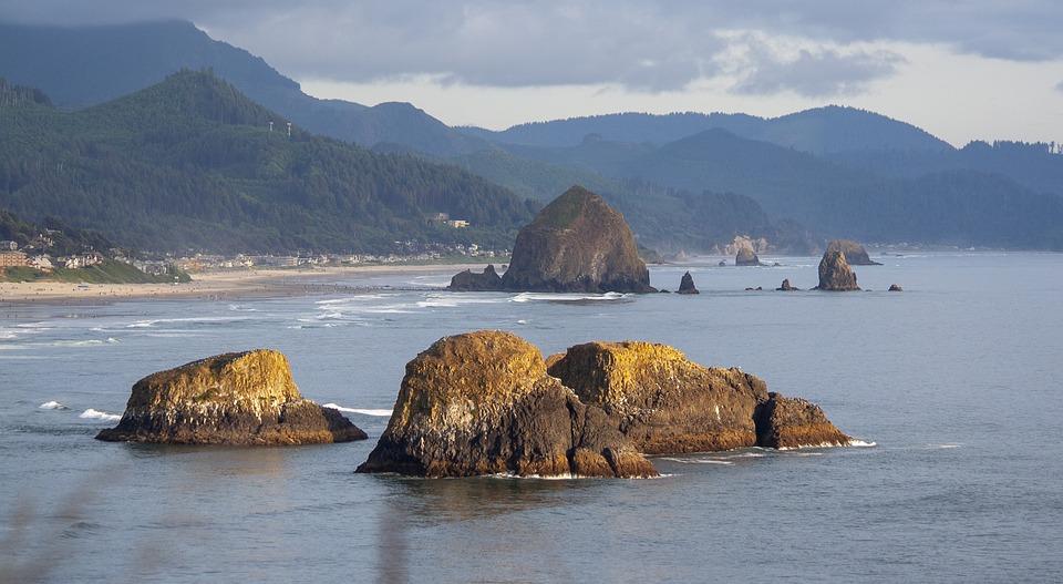 Cannon Beach, Beach, Oregon, Haystack, Cannon, Ocean