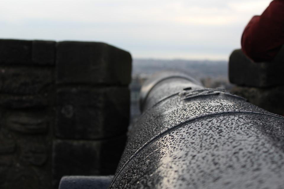 Cannon, Royal, Castle, Edinburgh, Landmark
