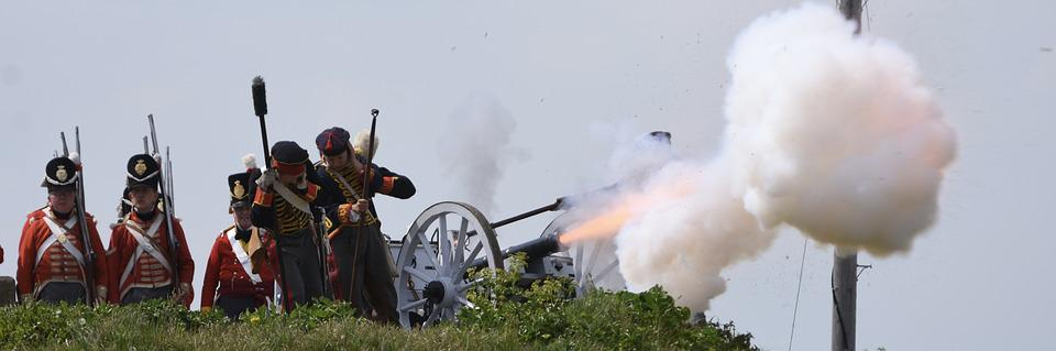 Military, Smoke, People, Army, War, Weapon, Cannon