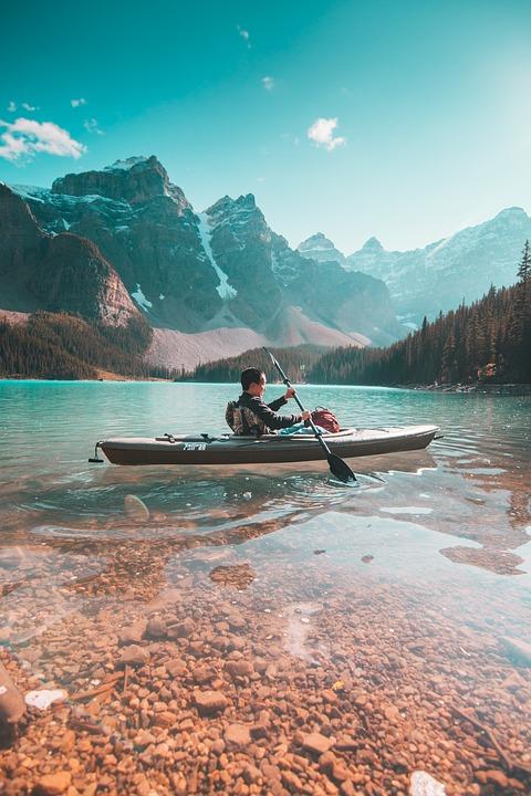 Man, Canoe, Kayak, Boating, Kayaking, Lake, Adventure