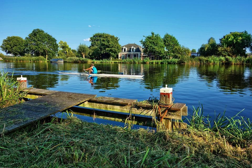 Canoe, Rower, River, Boating, Sport, Recreation, Summer