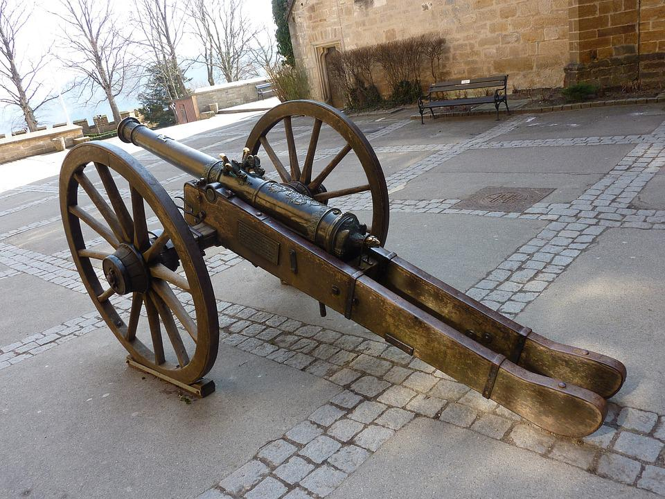 Canon, Hohenzollern, Castle, Germany, German